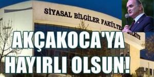 """Bakan Özlü Tiwtter Hesabından Açıkladı """"AKÇAKOCABEY SİYASAL BİLGİLER FAKÜLTESİ HAYIRLI OLSUN"""""""