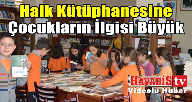 Halk Kütüphanesi ne Çocukların İlgisi Büyük