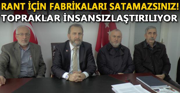 Düzce Saadet Partisi ŞEKER FABRİKALARI İçin Konuştu