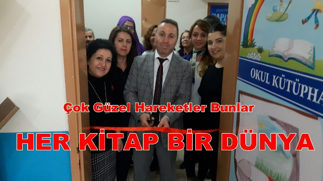 Osmaniye İlkokulu Öğretmenlerinden Örnek Davranış OKULLARINA KÜTÜPHANE KURDULAR