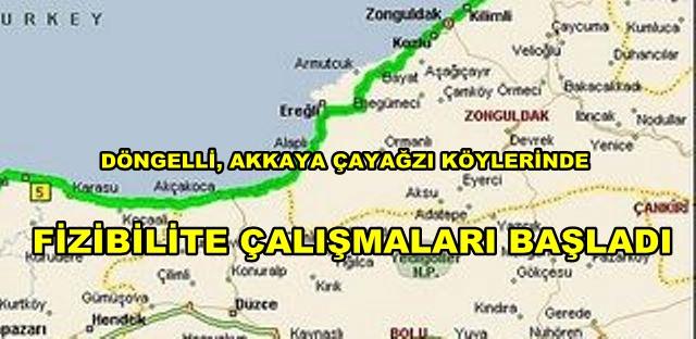 OTOYOL ÇALIŞMASI START ALDI .GÜZERGAH KÖYLERİNDE TESPİTLER BAŞLADI