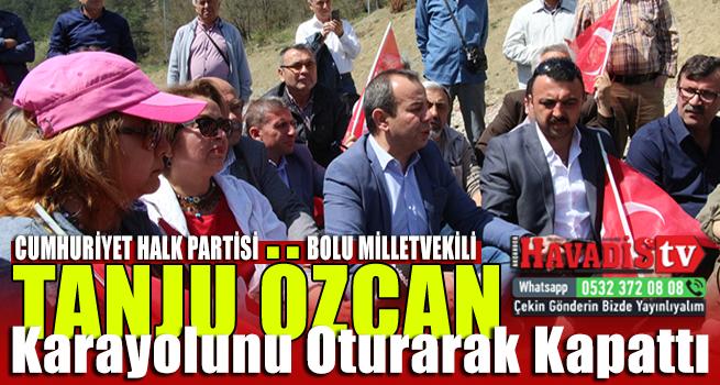 Milletvekili Tanju Özcan Karayolunda Oturma Eylemi Yaptı
