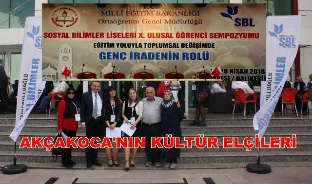 Ulusal Sempozyumda Akçakoca' yı Ve Okullarını BAŞARIYLA TEMSİL ETTİLER