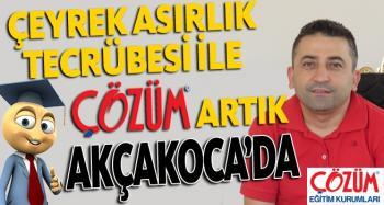 Türkiye'nin En Köklü Eğitim Kurumlarından ÇÖZÜM EĞİTİM KURUMLARI AKÇAKOCA'DA AÇILIYOR