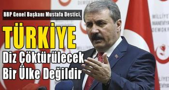 Destici: Türkiye diz çöktürülecek bir ülke değildir