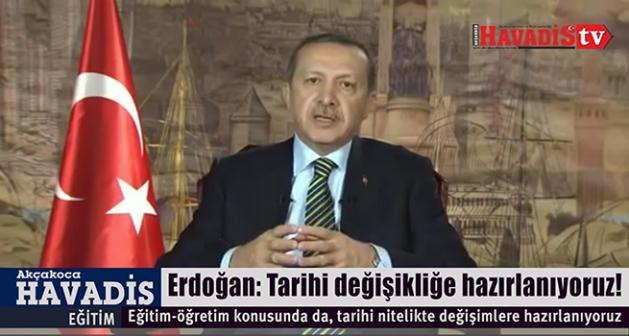 Erdoğan: Tarihi değişikliğe hazırlanıyoruz!