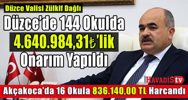 Vali Dağlı açıkladı: 144 okulda onarım yapıldı!