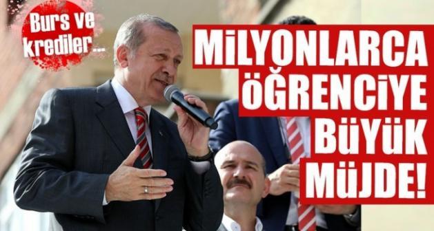 Erdoğan'dan milyonlarca öğrenciye burs ve kredi müjdesi!