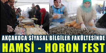 HAMSİ HORON FEST AKÇAKOCA KAMPÜSÜNDE GERÇEKLEŞTİ
