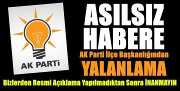 AK Parti cephesinden de yalanlama geldi!