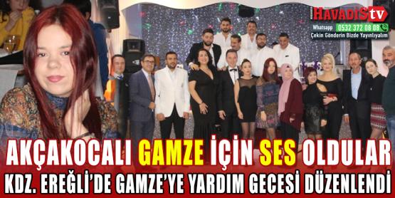 Kdz Ereğli'de Gamze İçin Yardım Gecesi Tertip Edildi