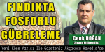 FINDIKTA FOSFORLU GÜBRELEME