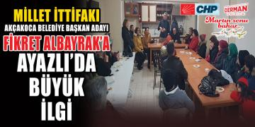 FİKRET ALBAYRAK AYAZLI'DA MORAL BULDU
