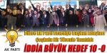 İDDİA BÜYÜK, HEDEF 10-0