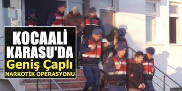 Kocaali Karasu'da baskın! 3 tutuklama