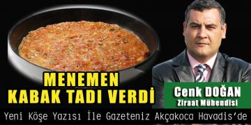 MENEMEN KABAK TADI VERDİ