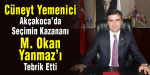 Cüneyt Yemenici, M. Okan Yanmaz'ı Tebrik Etti