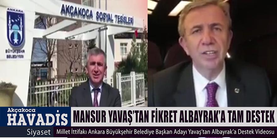 Mansur Yavaş Fikret Albayrak'a Destek Videosu Gönderdi.
