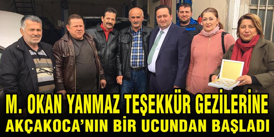 Akçakoca Belediye Başkanı Okan Yanmaz Teşekkür Gezilerine Sapaktan Başladı