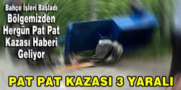 Pat pat kazası: 3 yaralı!