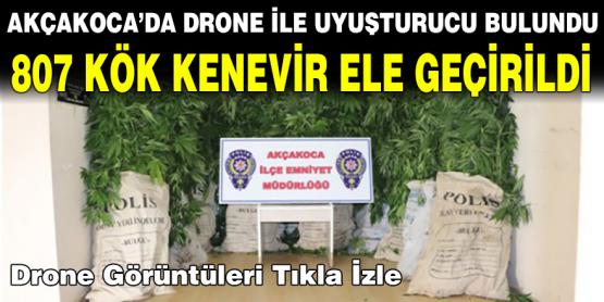 Akçakocada Uyuşturucu Tacirlerinin Yeri Drone İle Tespit Edildi