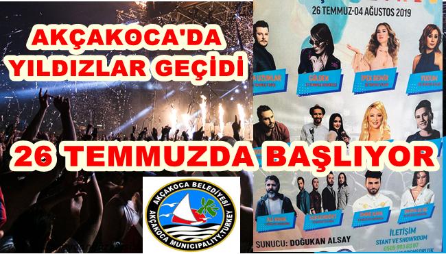 """FESTİVAL RÜZGARI """"AKÇAKOCA YAZ ŞENLİĞİ"""" İLE SÜRECEK"""