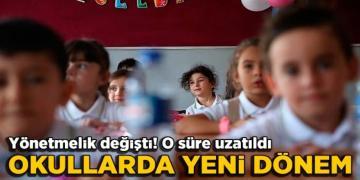 Okullarda yeni dönem! Teneffüs Süreleri uzatıldı