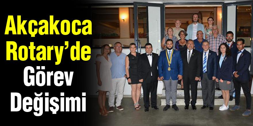 Akçakoca Rotary'de Görev Değişimi