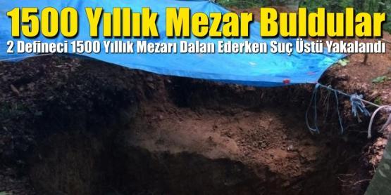 Kaçak Kazıda 1500 Yıllık Mezar Buldular