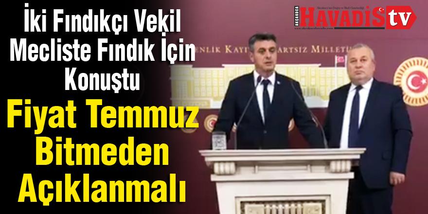 MHP li Fındıkçı Vekiller Fiyat Temmuz Bitmeden Açıklanmalı Dedi