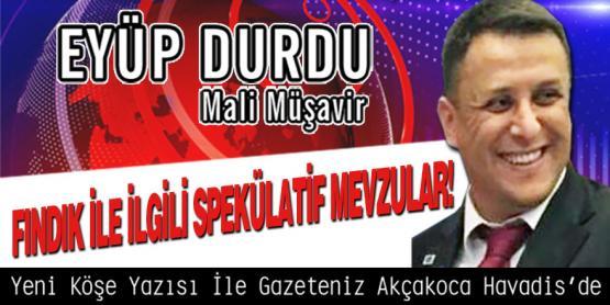 FINDIK İLE İLGİLİ SPEKÜLATİF MEVZULAR!