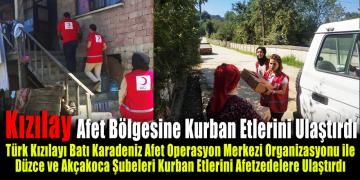 Türk Kızılayı Afet Bölgesindeki Afetzedelere Kurban Etlerini Ulaştırdı