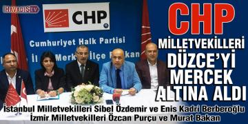 CHP Milletvekilleri Düzce'yi Mercek Altına Aldı