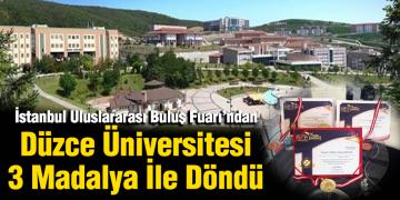 Düzce Üniversitesi 3 Madalya İle Döndü
