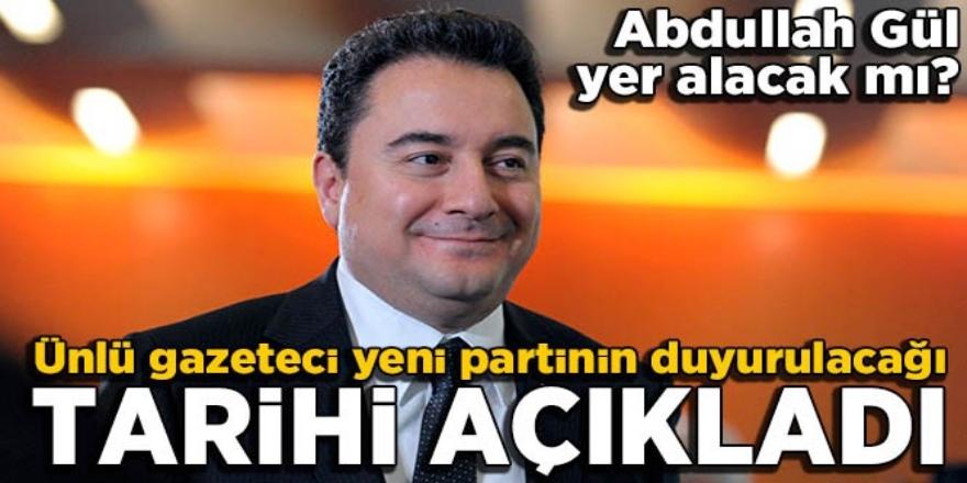 Altaylı Babacan'ın yeni partiyi açıklayacağı tarihi verdi