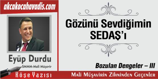 GÖZÜNÜ SEVDİĞİMİN SEDAŞ'I / BOZULAN DENGELER III