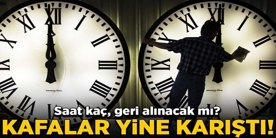 Saatler geri alındı mı, şu an saat kaç?