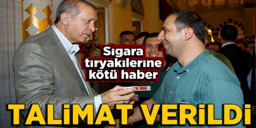 Sigara tiryakilerini üzecek gelişme: Erdoğan talimat verdi