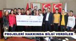 """""""AYNI DENİZİN ÇOCUKLARI"""" AB PROJESİ EKİBİ BAŞKAN YANMAZ'I ZİYARET ETTİ"""