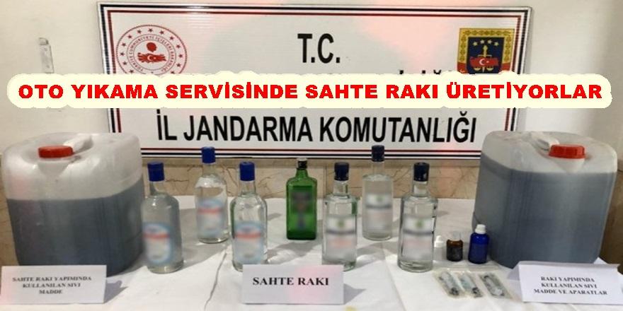 'SAHTE ALKOL' ÜRETİMİNE JANDARMA BASKINI!