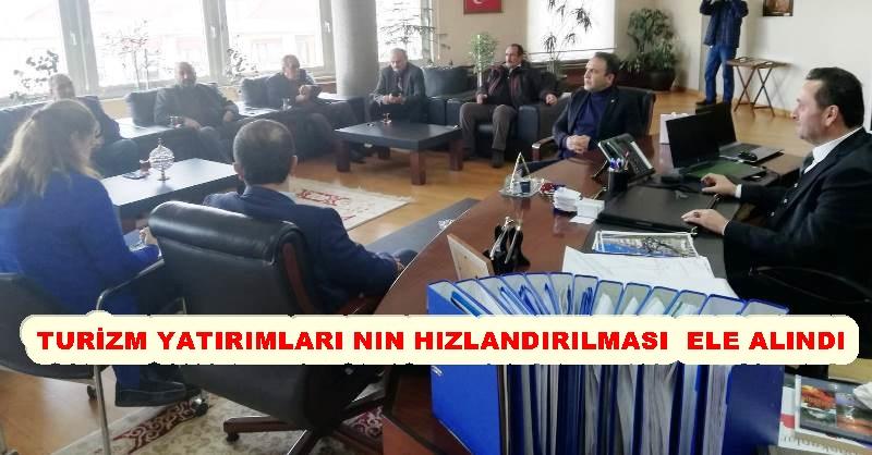 MHP'DEN BAŞKAN YANMAZ'A ÜST DÜZEY ZİYARET
