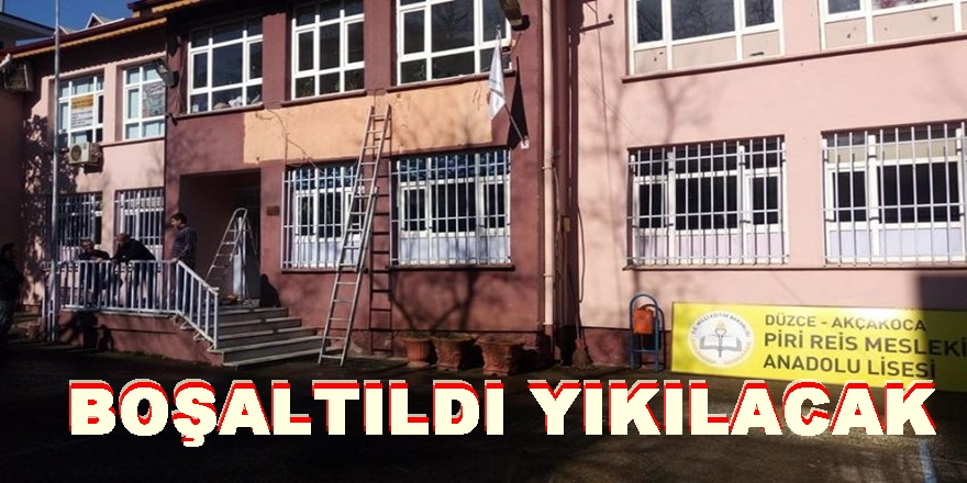 PİRİ REİS TAŞINDI ,YALI İLKOKULU YIKILIYOR