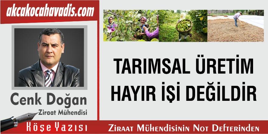 TARIMSAL ÜRETİM HAYIR İŞİ DEĞİLDİR.