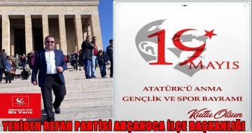 YENİDEN REFAH PARTİSİ 19 Mayıs Atatürk'ü Anma, Gençlik ve Spor Bayramı'nı Kutladı