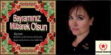 Vatan Partisi Akçakoca İlçe Başkanı Serap Naz BAŞAR Ramazan Bayramı Kutlama Mesajı Yayımladı