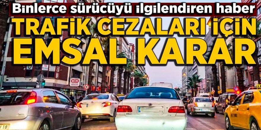 Trafik cezası delil olmayınca iptal edildi
