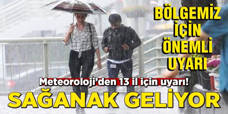 Meteorolojiden 13 il için sağanak yağış uyarısı