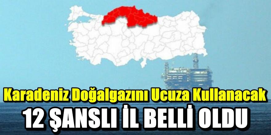 Karadeniz'deki doğalgaz keşfi sonrası şanslı 12 il