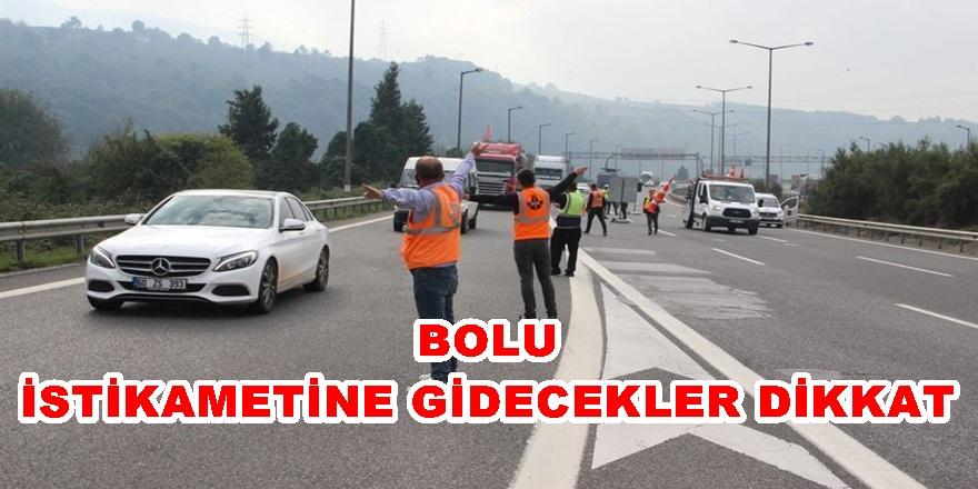 TÜNEL ANKARA İSTİKAMETİNDE KAPANDI, BOLU DAĞINDA TRAFİK FELÇ!!!