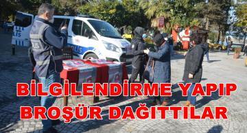 POLİS VE JANDARMADAN ,KADINA YÖNELİK ŞİDDETLE MÜCADELEYE DESTEK